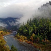 The Klamath River at Hopkins Creek, close to Weitchpec.