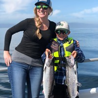 Sport salmon anglers won't have much time on the water this year as the season will run for only 34 days on the North Coast, beginning June 29. Pictured are Chico residents Ryder Gregory and Heidi Musick, who caught some nice kings in 2019 while fishing in Trinidad.