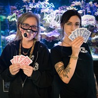 Bonnie Price (left) and Nicole Matonak of Fin-N-Feather