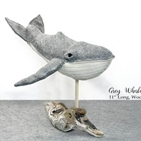 """""""Grey Whale"""" by Eleanor Seeley, at Trinidad Art Gallery."""