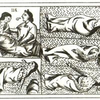 16th century Aztec drawing of smallpox victims.