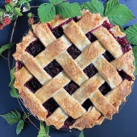 A jammy blackberry pie worth the pain of picking.