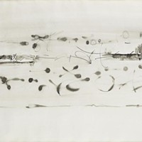 One of six untitled V.S. Gaitonde drawings sold by the Humboldt Arts Council.