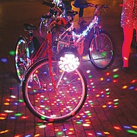 The Bike Gang prepares for a disco-fabulous tour.