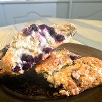A blueberry scone to set you on the path of righteousness.
