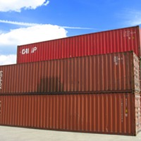 Chinn says the plan is to renovate shipping containers, outfitting them with two beds, windows and storage space.