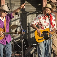 """Rick Levin and Steve Irwin helped close the Merle Haggard tribute with """"Okie from Muskogee.""""  """"Everything I love about playing music was all there yesterday, and I will long remember it,"""" said Levin."""