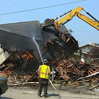 Demolition of the home at 815 H St.