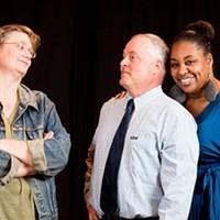 Peggy Metzger, Craig Benson and Kenya Uhuru in Good People.