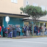 First day of recreational cannabis sales in Eureka.