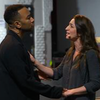 John Legend and Sara Bareilles in tonight's live TV musical.