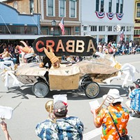 Team CRABBA and others celebrated a glorious crossing of the Ferndale finish line.