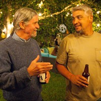 Fifth District challenger Steve Madrone (left), pictured at an election night party, has grown his lead in the Fifth.