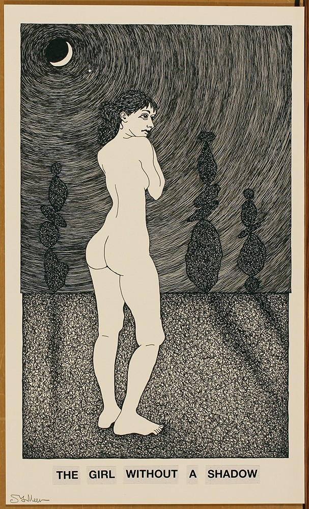 """Steven Vander Meer's """"The Girl Without a Shadow,"""" are graphite and India ink on paper, 2018. - COURTESY OF THE ARTIST"""