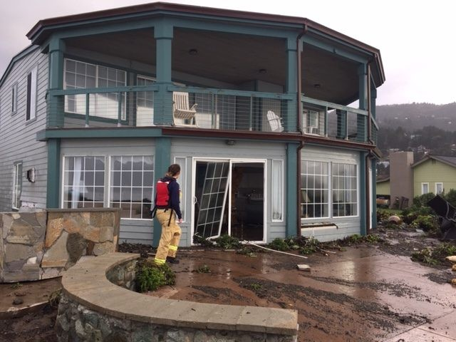 Damage caused to a Shelter Cove home. - CHERYL ANTONY OF SHELTER COVE FIRE