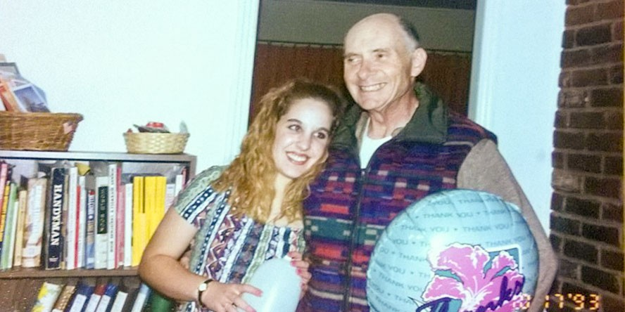 Amber Slaughter with her grandfather. - SUBMITTED