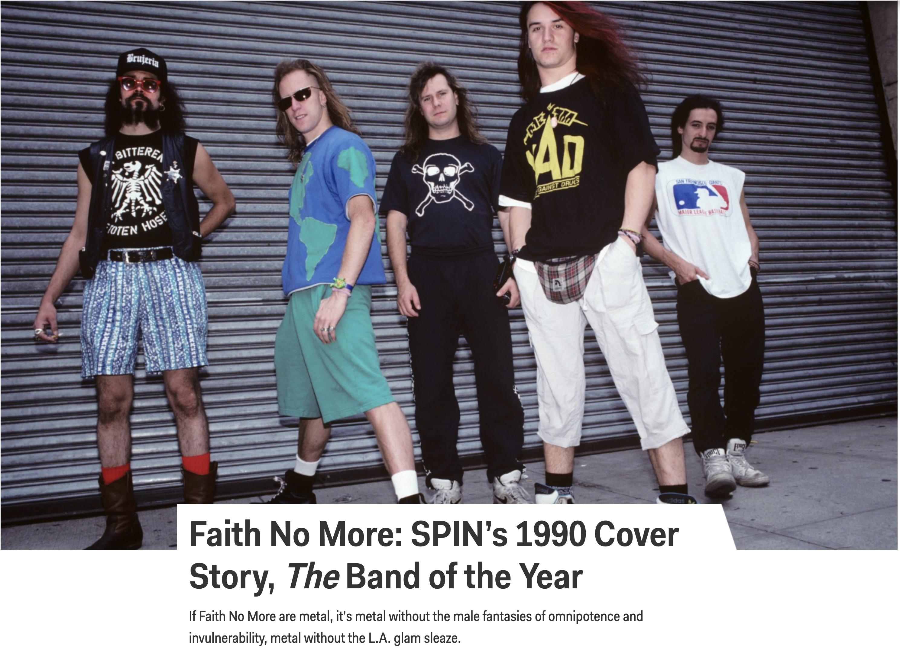 From the Mouths of Bands: Spin's Faith No More Flashback