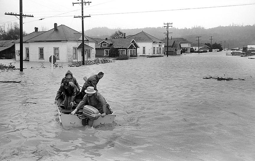 A rescue boat sets out near Alton. - PHOTO COURTESY OF GREG RUMNEY