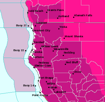 Hot temps and a red flag warning for the interior. - NWS