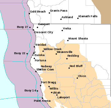The Fire Weather Watch areas is shown in beige. - NWS