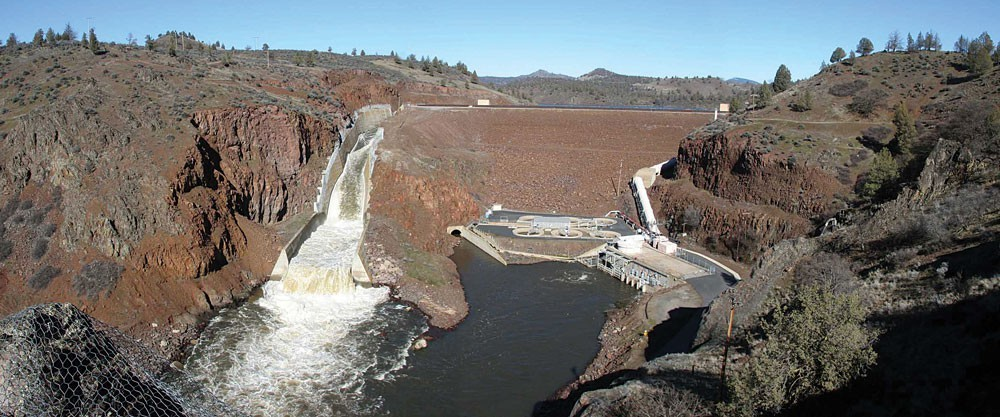 Irongate Dam on the upper Klamath River is one of four hydroelectric dams now slated to be removed in 2023. - THOMAS DUNKLIN