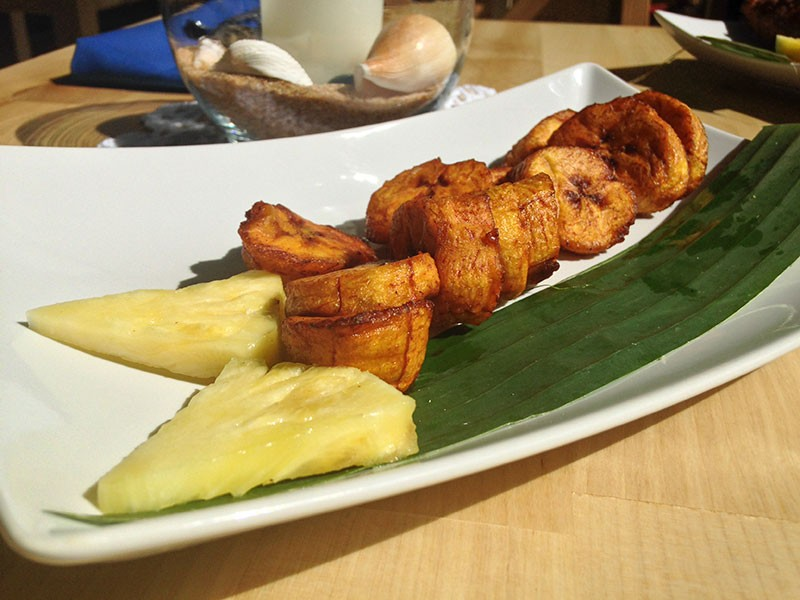 Fried plantains satisfy sweet and salty cravings. - JENNIFER FUMIKO CAHILL