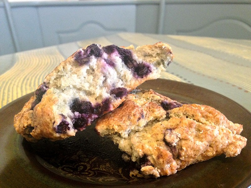 A blueberry scone to set you on the path of righteousness. - JENNIFER FUMIKO CAHILL