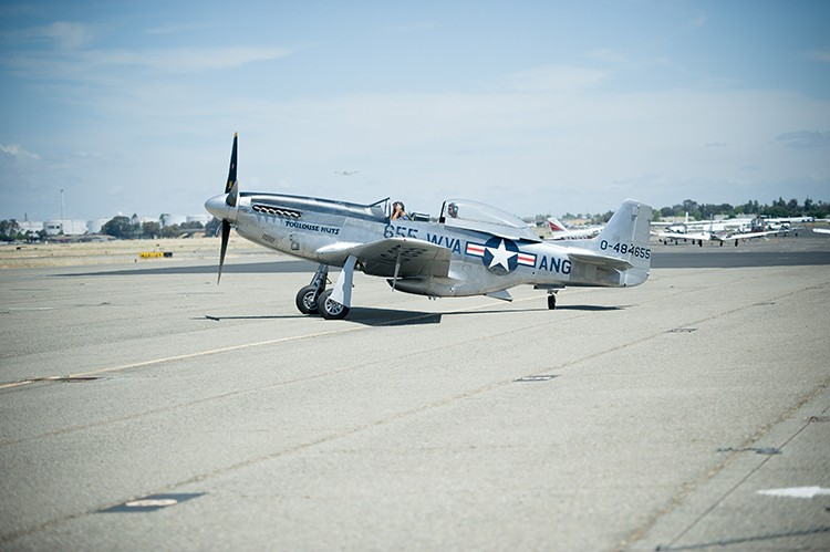 Toulouse Nuts, the P-51 Mustang. - PHOTO BY MARK MCKENNA