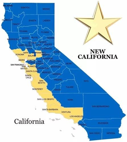 Image result for map of proposed new california