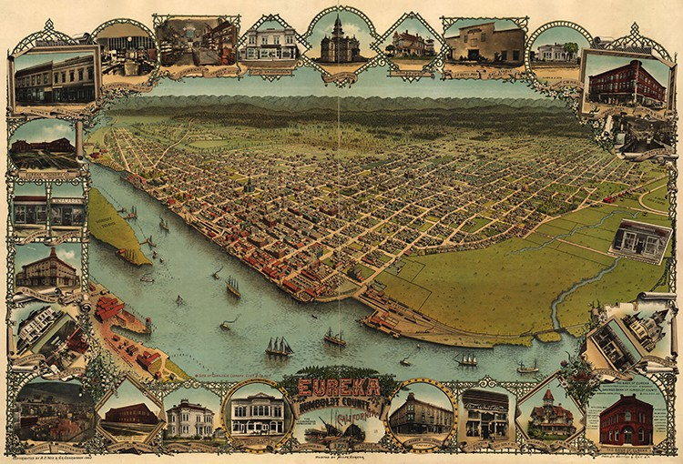 Map of Eureka, Calif., 1902 - LIBRARY OF CONGRESS