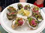 Fregoso's Comida Mexicana's winning raw oysters.