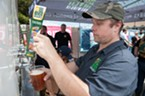 Local beer was on tap at the Oyster Fest alternative Shuck Yeah.