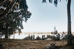View of the bay at Humboldt Bay Social Club.