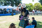 Celtic Rock Band Tempest entertained the crowd at Perigot Park during the Highland Games in Blue Lake on Sunday.
