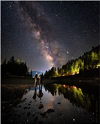 My brother Seth and I watch the world go by one summer night on the banks of the South Fork Eel River in Richardson Grove, Humboldt County, California