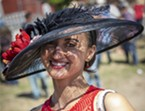 Laura Ayllon, of Loleta, put her sun hat to good use on the sunny afternoon. She placed second in the Most Glamorous category.