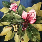 """Being July Magnolia"" painting by Marisa Kieselhorst at Plaza."