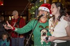 "Arcata Main Street's Events and Marketing Director Nancy Stephenson and head elf Talvi Fried organized the ""Wonder and Light"" event  on the Arcata Plaza, entertaining families, welcoming Santa and helped promoting local businesses."