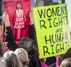 The themes of personal choice and personal rights appeared on many signs at the Pro-Planned Parenthood rally outside the Humboldt County courthouse on Saturday afternoon.
