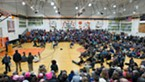 More than 1,000 people turned out for the town hall, which had to be moved to a larger venue after Huffman's office received a flood of RSVPs.