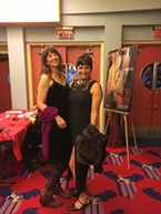 Journal contributors Amy Barnes and Peri Escarda add cowboy boots and faux fur to little black dresses.