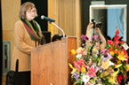 HSU President Lisa Rossbacher spoke at the beginning of the memorial.