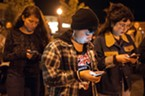 Demonstrators added the number for the Humboldt County District Attorney's Office to their phones and were encouraged to call and demand justice.