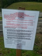 A notice posted near a homeless camp on U.S. Highway 101 near Garberville telling people to be out by Feb. 27, the date of the Point in Time Count.