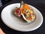 A luxe lobster and Oyster dish from Five Eleven.