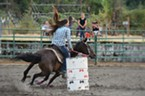 K-Lynn Swanson, freshman at Hoopa High, local barrel race.