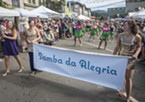 Sunday's Samba Parade with featured performers Samba da Alegria attracted a big crowd to the North Country Fair.