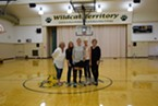 From left to right, Locatelli (middle) is flanked by her G.L.O.W. team: Cheryl Gionden, Roberta Marcelli, Kathi Figas and Linda Sundberg.