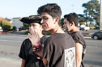 Tawhid Atul, an exchange student from Bangladesh, came with friends to the Zombie Walk.