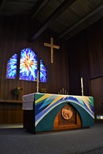The altar at St. Alban's Episcopal Church in Arcata.